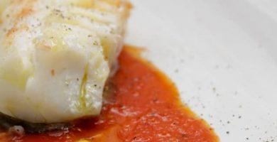 bacalao al horno con patatas y tomate