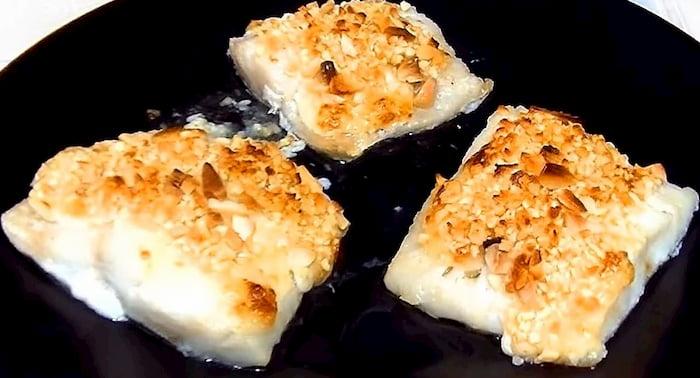 bacalao fresco al horno gratinado con alioli