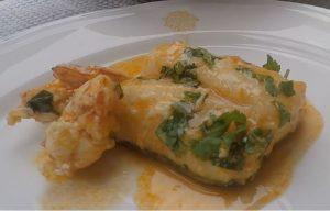 receta bacalao al horno con langostinos