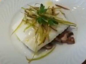 bacalao fresco con setas al horno