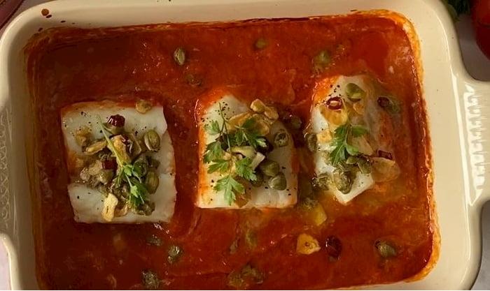 receta de bacalao al horno con refrito
